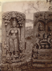 Two sculptured slabs from Pakbirra, Manbhum District